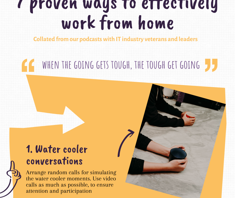 7 proven ways to effectively work from home – an infographic